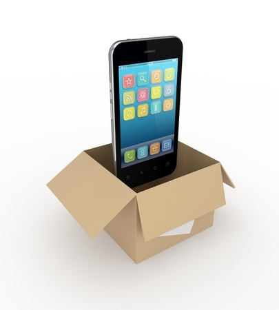 14073071-Modern-mobile-phone-in-a-carton-box--Stock-Photo-phone